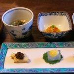 大願寺 - 料理写真:色とりどりの前菜