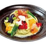 SNOOPY 茶屋 - 【終了しました。】 提供期間:2017/07/14~2017/09/18 スヌーピー夏野菜と枝豆のクリームパスタ