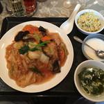秀宴 - 揚げ麺五目あんかけ