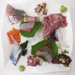おかもと鮮魚店  - 刺身盛り合わせ(二人前)¥2,000