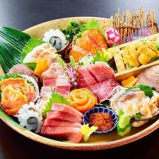 旬の魚介を使った逸品料理