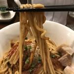 らぁ麺やまぐち 辣式 - 【2017.9.6】モッチリ太麺。