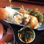米寿司 - タップリのお惣菜です。