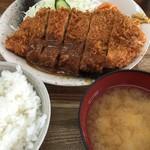 キッチン グラン - トンカツ定食 750円