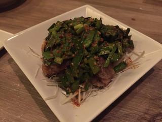 煮込み - 砂肝の唐揚げガリ醬油