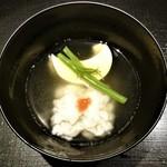 祇園 にしかわ - 『三日月豆腐、鱧のすまし仕立て』~!!  出汁は『祇園神水』を使って作っていて優しい味わいのすまし汁~♪(* ̄∇ ̄)ノ