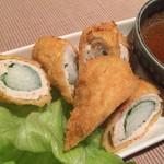 ゆず - 帯広川西産長芋とササミの揚げ物