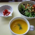 73114572 - サラダとスープ