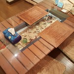 クプクプカフェ - このテーブル素敵です