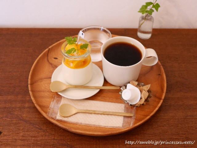 あんずともも - マンゴーブランマンジェとコーヒー