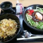 岩手山サービスエリア(下り線)スナックコーナー - とろ玉じゃじゃ麺&ミニチャーハン 780円