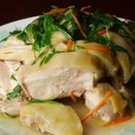 荘園 - 葱油鶏(骨付き蒸し鶏)980円