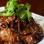荘園 - 乾煎猪肝(厚切り豚レバの素揚げ)780円