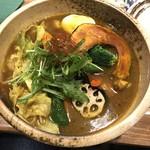 サッポロ スープカレー 浅野屋 - 柔らかチキンと14種類の野菜カレー(激辛)