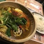 サッポロ スープカレー 浅野屋 - 柔らかチキンと14種類の野菜カレー(980円)