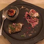 お箸で食べる和フレンチ 波波 - 秋刀魚のコンフィ、秋茄子のデリクネゾン 松坂豚のローストポーク、紫キャベツのコールスロー 秋刀魚が香ばしくとても美味しい!一品一品のクオリティがスゴイです。