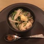 お箸で食べる和フレンチ 波波 - シメの甘鯛の骨だしにゅうめん またまたこれが甘鯛の出汁がすごい効いててとてつもなく美味しい…。