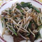 味楽 - 料理写真:レバニラ炒め