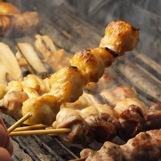 ◆山梨県産健味どり串焼★厳選もつ焼★国産豚バラ肉巻串◆