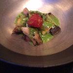 7314102 - アワビのソテー 香草バター風味 セミドライトマトを添えて
