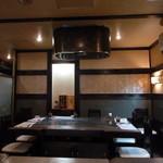 紅花別館 - 鉄板焼きのコーナー