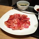 平城苑 - 和牛カルビセット肉1・5倍