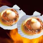 ヤン衆料理 北の漁場 - 活帆立バター焼き 小2個