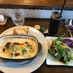 Organicoo - 瀬戸内牡蠣のスープグラタン980円はテレビで紹介されたらしい
