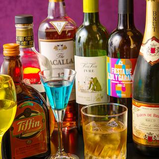 マリアージュの為の様々なお酒をご用意!!
