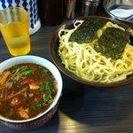 めん屋 桔梗  - 110328 辛つけ麺(大盛り)