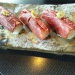 べこいち - 料理写真:和牛寿司;3貫680円
