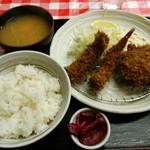 三好弥 - 海老、イカ、メンチカツの盛り合わせ定食