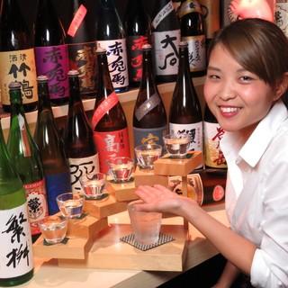 魚市名物!【地酒の飲み比べ6種】