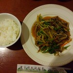 73154603 - □定食C 牛肉とピーマン炒め 800円(外税)□ ご飯は食べ放題!