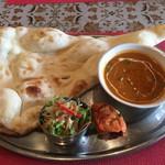 本格印度料理バターチキン - 日替わりカレーAセット+チキンティッカ