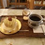 銀座 風月堂 - モンブラン コーヒー