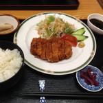 レンガ亭 - 三元豚のとんかつ定食
