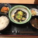 Miyuki - 10食限定メニュー750円、2017年9月15日は茄子の味噌煮