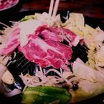 バーベキュー白樺 - 料理写真:野菜と一緒に焼いていきます