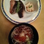 札幌プリンスホテル - 蕎麦にイクラ