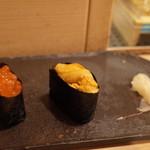 鮨あおき - ウニ、イクラ