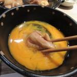 Hakatajidorisemmonryourifukueikumiai - 煮込まれた鶏肉は卵を通すとサクッと歯切れ良くコクと旨みが濃縮されてます。