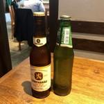 中華そば カリフォルニア - 日替わりビールは2種類です。