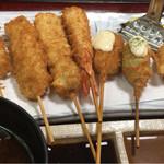 串かつ料理 活 - 串かつ御膳の串7本