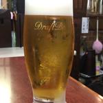 串かつ料理 活 - アサヒ熟撰生ビール