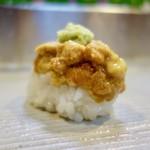 73174556 - [2017/09]寿司⑪ 産地の異なる2種のうにの握り