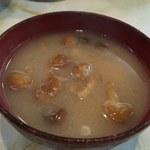 富士川食堂 - おめこ。。いや、なめこ汁