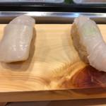 つきぢ神楽寿司 - ホタテ、ヒラメ