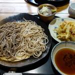そば切 雨耕庵 - 二色蕎麦+野菜かき揚げ
