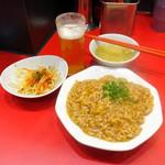 肉あんかけチャーハン 炒王 - チャーハンビールセット1,080円